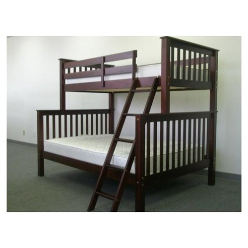 Bunk Bed Twin over Full Mission style in Cappuccino