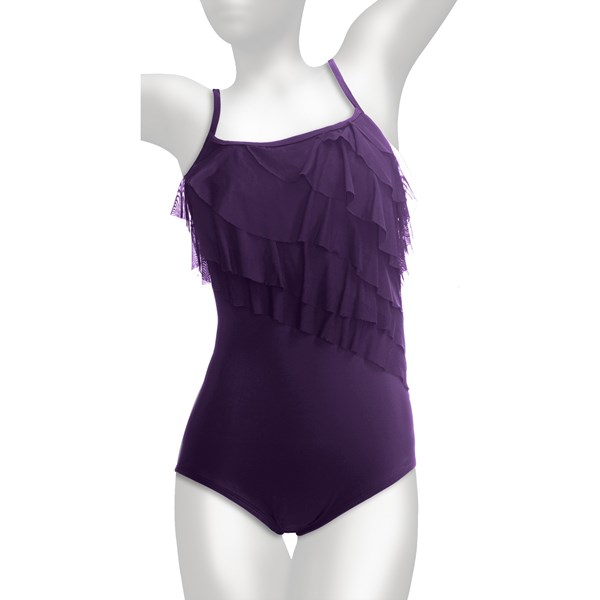 Longitude Tiered Swimsuit (For Plus Size Women)