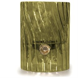 6 VedaHome Palm Green Swirl Glass Pillar Candle Holder