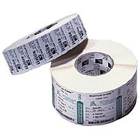 A matte topcoated white polypropylene thermal transfer label stock that produces high quality black bar codes and human readable fonts when used with compatible Zebra ribbons