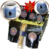 cgb_21602_1 Krista Funk Creations Humpback Whales - Humpback Whale Doing a Spiral Breach Out of the Lynn Canal in Southeastern Alaska - Coffee Gift Baskets - Coffee Gift Basket