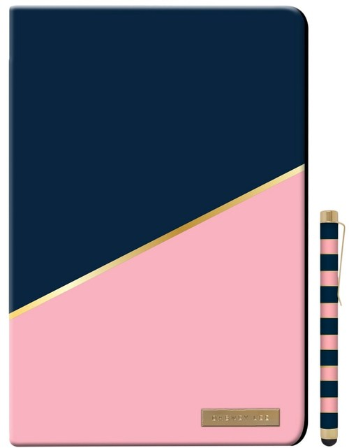 Dabney Lee Ip0019cb-nvp Folio Case With Stylus For Up To 10-inch Tablets - Pink, Navy