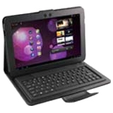 "E-Stand Samsung Galaxy Tab 10.1"" Portfolio Case with Removable Bluetooth Keyboard"
