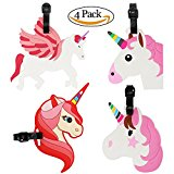 VEMAI Luggage Tags with Unicorn Horse Strap Flexible Name Card Holders for Suitcase Labels Baggage Tag Travel Accessories
