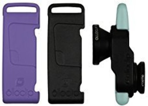 Olloclip Fisheye/wide Angle/macro Lens - 3-in-1 Photo Lens For Iphone 5/5s - Black/lavender/mint Green - Oceu-iph5-l1bk-sbk-2