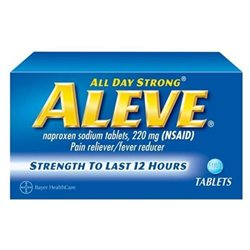 Aleve Pain Relief & Fever Reducer Tablets, 100 count