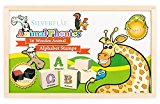 Alphabet Stamps Set- Phonics with Animals by Silverflye- Montessori- Preschool Toys- Safe Non Toxic Washable Ink- For Kids with Learning Disabilities, ADHD and for Teaching Struggling Readers- AGE 3