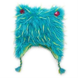 Total Girl Trapper Girls Fuzzy Blue Plush Fur Winter Hat Peruvian Beanie