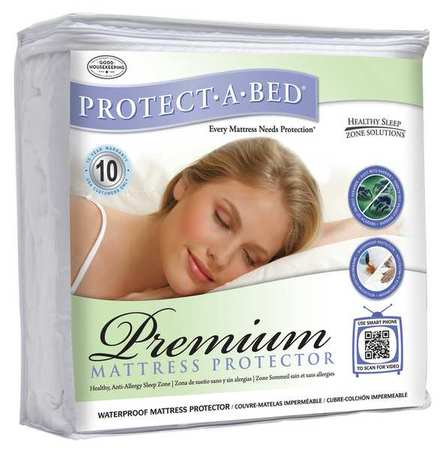 PROTECT-A-BED P 0197 Mattress Pad, Twin XL, Terry Cotton, PK12