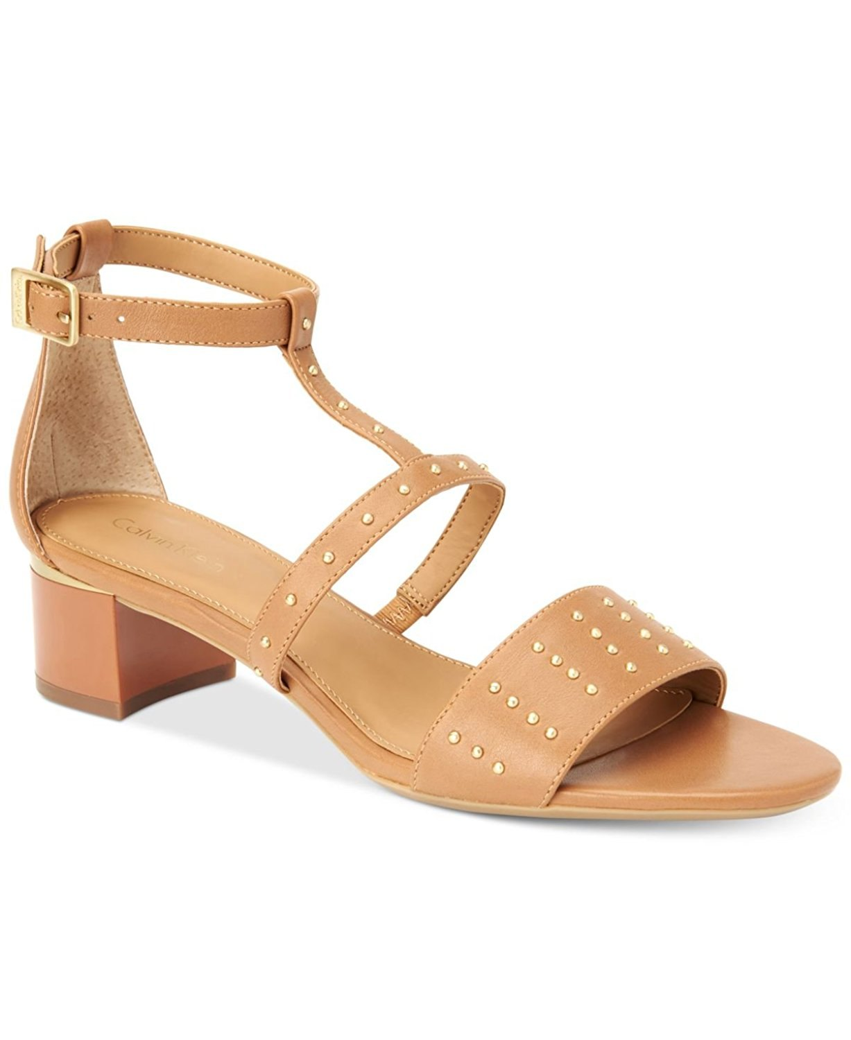Calvin Klein Womens Divina Open Toe Ankle Strap D-orsay, New Caramel, Size 8.5