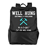 Well Hung Drywall And Molding Polyester Sport Backpack Bags