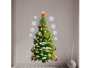 Christmas Tree Stars Removable Wall Stickers Art Decals Mural Diy Wallpaper For Room Decal 50 * 70cm
