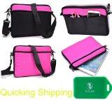 Neoprene sleeve messenger bag in Black/Hot Pink Universal fit for Sylvania SDVD9020B
