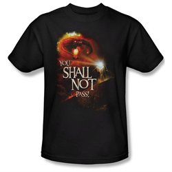 Mens LORD OF THE RINGS Short Sleeve YOU SHALL NOT PASS XXLarge T-Shirt Tee