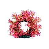 Hot Sale!DEESEE(TM)Aquarium fish tank plant creature aquarium decoration Decor landscape (Pink)