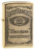 Zippo Jack Daniel's Tennessee Whiskey Emblem Pocket Lighter, High Polish Brass