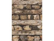 Stacked Logs Wallpaper Rasch 931808