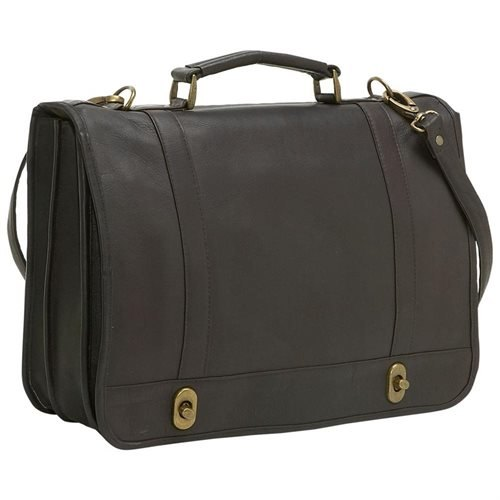 Le Donne Leather Flap Over Twist Lock Brief