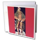 BLN Paintings of Kings, Queens and Royalty - Portrait of Duke Henry of Saxony, 1514 by Lucas Cranach the Elder - 12 Greeting Cards with envelopes (gc_169669_2)