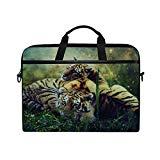 Rh Studio Laptop Bag Tigers Cubs Photoshop Messenger Bag Case Sleeve for 14 Inch to 15.6 Inch with Adjustable Notebook Shoulder Strap