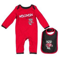 Wisconsin Badgers Infant NCAA Tuck Romper & Bib Set