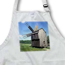 Romania, Transylvania, Sibiu, windmill - EU24 EGI0028 - Edward & Susan Ginsberg - Medium Length Apron With Pouch Pockets 22w X 24l