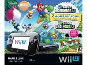 "Nintendo Wii U Gaming System Mario & Luigi Deluxe Set Type: Wii U Bundle Size: 10.5"" x 6.8"" x 1.8"" Weight: 3.41 lbs"