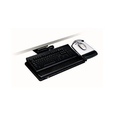 3m Akt151le Adjustable Keyboard Tray  Easy Adjust Arm  11.7 In X 24.4 In X 7.2 In 17.75in Track  Adjustable Platform