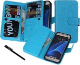 Galaxy S7 Case, Urvoix(TM) Wallet Leather Flip Card Holder Case, 2 in 1 Detachable Magnetic Back Cover for Samsung Galaxy S7 G930 (NOT for S7 Edge)