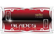 Blades Tribal Chrome License Plate Frame Height: 0.250 Width: 6.500 Length: 12.500 Weight: 1