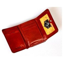 Tony Perotti Personalized Leather Tri-fold Wallet with Pocket