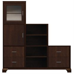 Zoe Espresso Personal Storage Cabinet