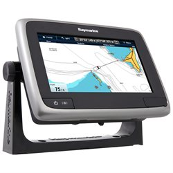 Raymarine a75 7 MFD Touchscreen - Navionics North America Gold  3,000 Lakes & Rivers