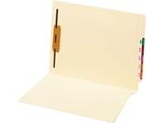 Globe-weis 44110 Manila End Tab Folder, One Fastener, Straight Tab, Letter, 50/box