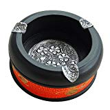 ZZSIccc The Thai Arts And Crafts Hand Painted Lace Ashtray Thai-Seok-Round Ashtray