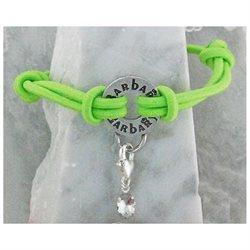 Barbary Elastic Carrier Bracelet Lime Green