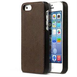 Zenus Apple iPhone 5S Pixel Leather Bar Case Cover - iPhone - Dark Brown - Genuine Leather