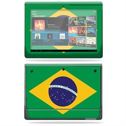 Protective Vinyl Skin Decal Cover for Sony Tablet S sticker skins Brazilian flag