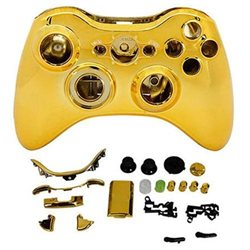 SmackTom Microsoft xbox 360 Golden replacement wireless controller case shell parts