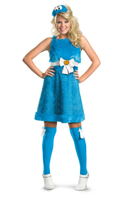 Disguise Sesame Cookie Monster Sassy Adult Costume-4-6