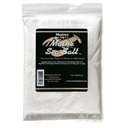 Natural Maine Sea Salt Bag COARSE SIZE from Maine Sea Salt - 1 Pound