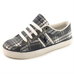 Polo Ralph Lauren Bolling Brook Youth Boys Gray Fabric Sneakers Shoes