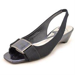 Anne Klein Sport Baxley Womens Blue Textile Slingbacks Heels Shoes