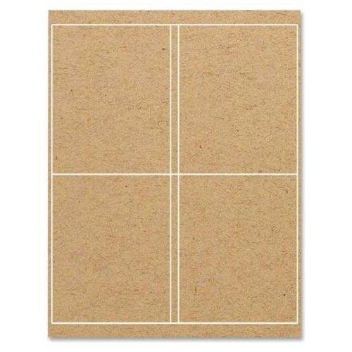 ReBinder Binder Spine Label - 4 Width x 5 Length - 4/Sheet - Permanent - 100 / Pack - Brown