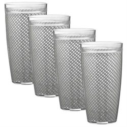 Fishnet Double-Wall Drinkware - Set of 4