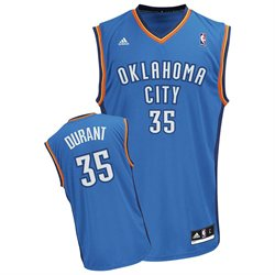adidas Oklahoma City Thunder Kevin Durant Youth (Sizes 8-20) Replica Road Jersey