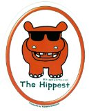 The Hippest Red Hippo with Shades - Sticker / Decal