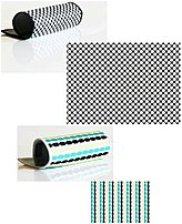 Schatzii Bm2p-008 Smart Cloth - 2 Pack - Patterns: Car Wash (blue/tan/green Cloth) / Bullet Proof (black And White Cloth)