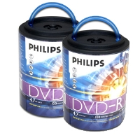 Two Philips 16XDVD-R Spindles - 2x100 Pack(bundle)