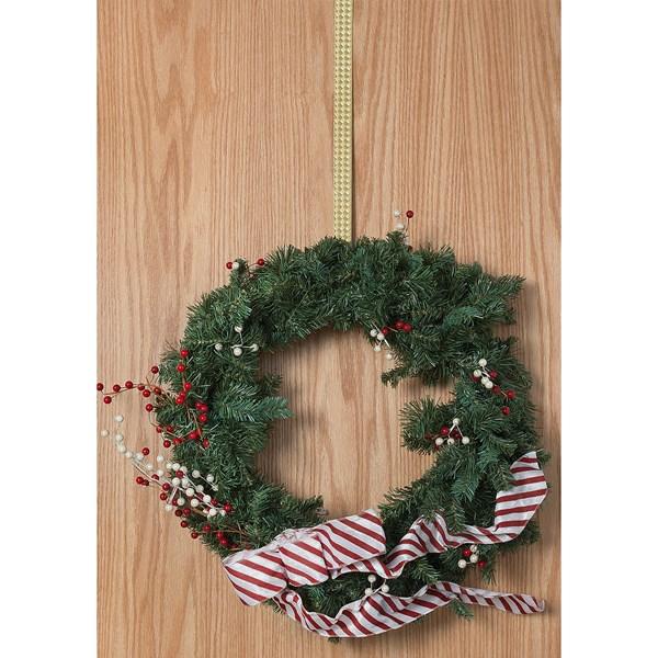 Conant Basket Weave Brass Wreath Hanger